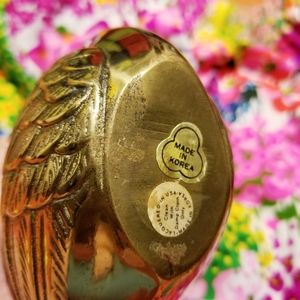 Vintage Accents - VTG Brass Swan With Detailed Feathers & Long Neck